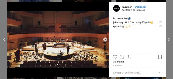 aperçu publication Instagram Le Balcon