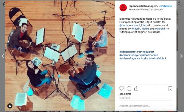 aperçu publication Instagram Agence Artist Management